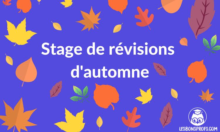 Stage de révisions d'automne bonne T article.png