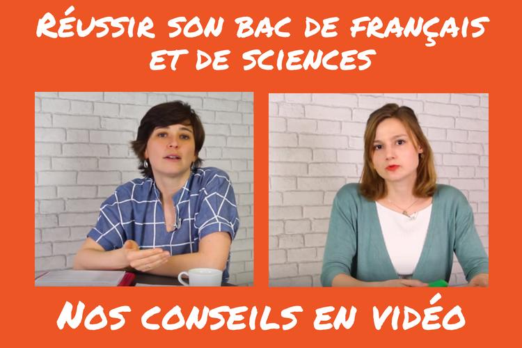 Tous les conseils des Bons Profs en vidéo pour réussir son bac de français et de sciences.png