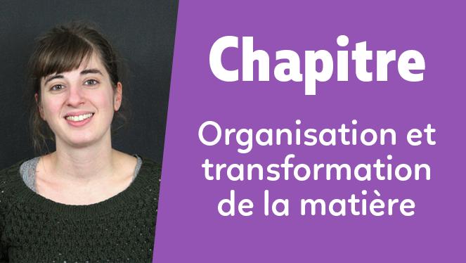 Organisation et transformation de la matière