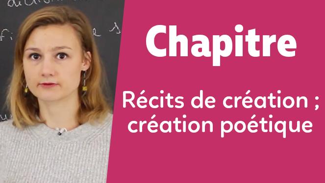Récits de création ; création poétique