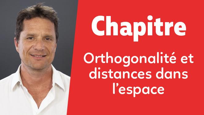 Orthogonalité et distances dans l'espace