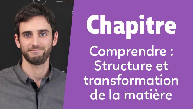 Comprendre : Structure et transformation de la matière