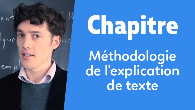 Méthodologie de l'explication de texte