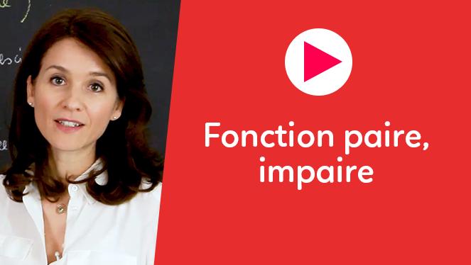 Fonction paire, impaire