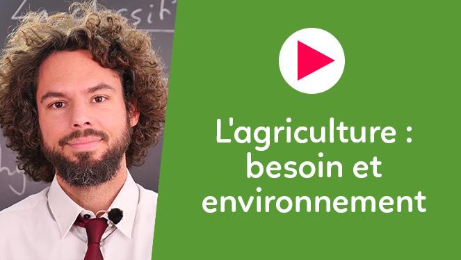 L'agriculture : besoin et environnement