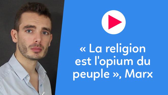 « La religion est l'opium du peuple », Marx
