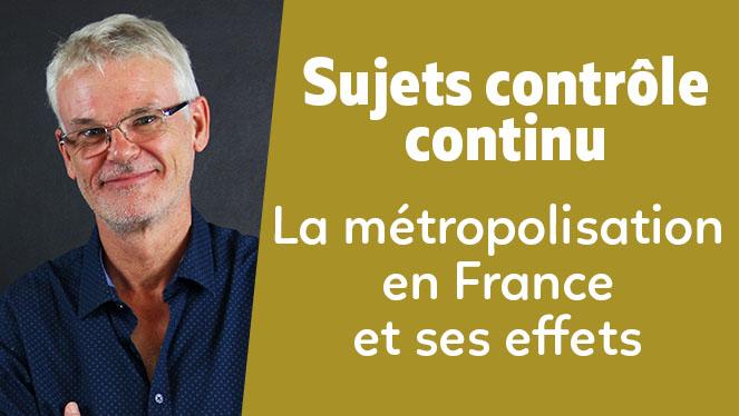 La métropolisation en France et ses effets (croquis)
