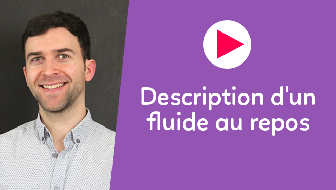 Description d'un fluide au repos
