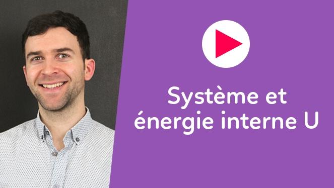 Système et énergie interne U