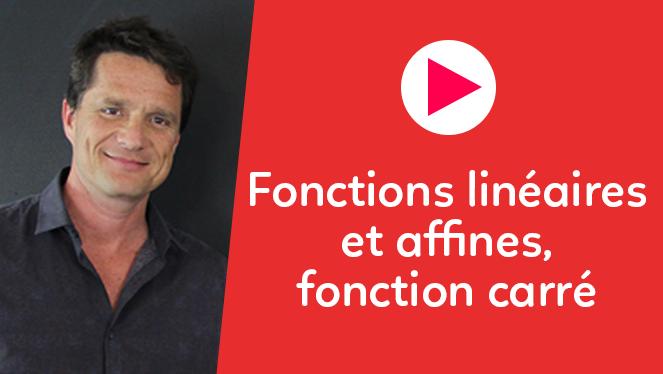 Fonctions linéaires et affines, fonction carré