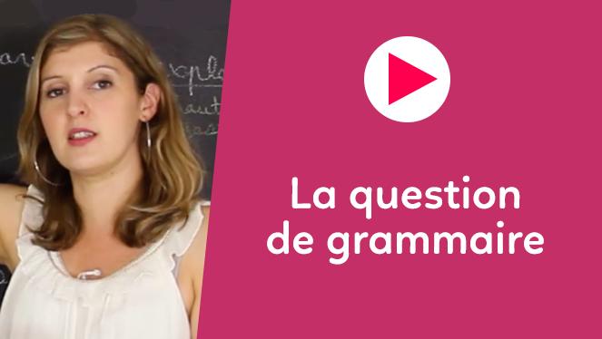 La question de grammaire (poésie)