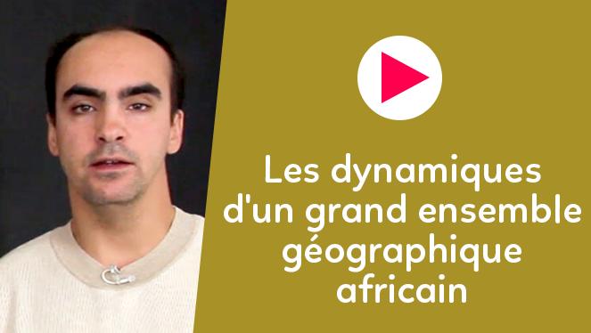 Les dynamiques d'un grand ensemble géographique africain