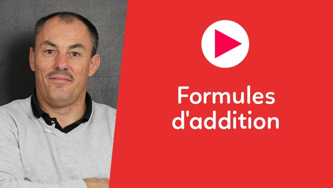 Formules d'addition