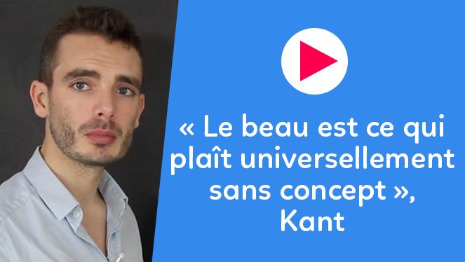 « Le beau est ce qui plaît universellement sans concept », Kant