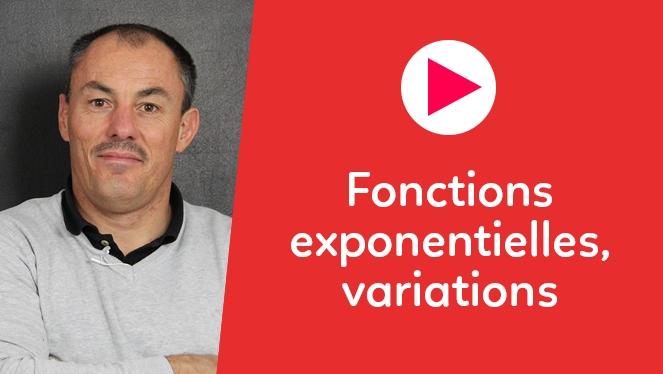 Fonctions exponentielles, variations
