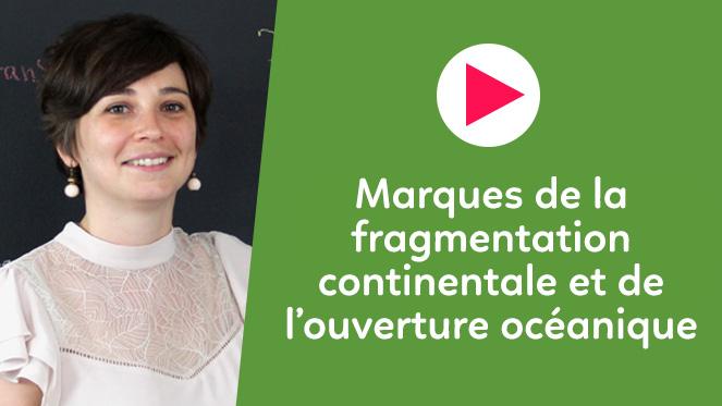 Marques de la fragmentation continentale et de l'ouverture océanique