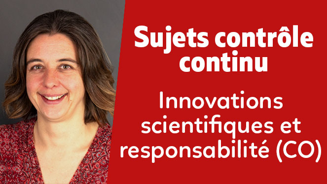 Innovations scientifiques et responsabilité (CO)