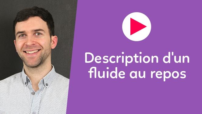 Description d'un fluide au repos