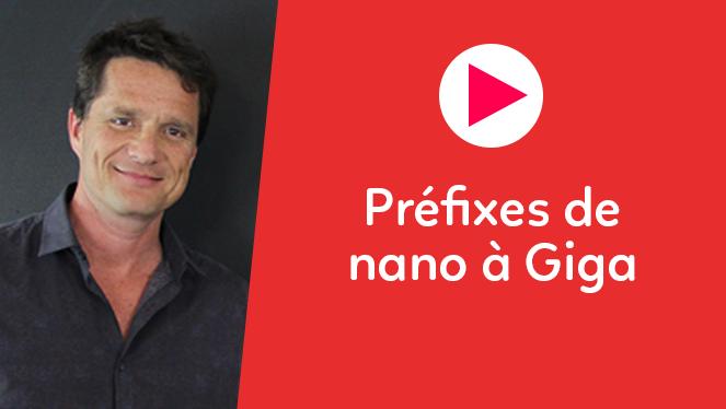 Préfixes de nano à Giga