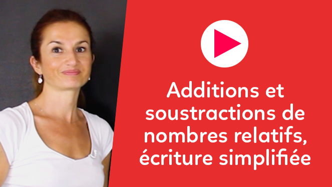 Additions et soustractions de nombres relatifs, écriture simplifiée