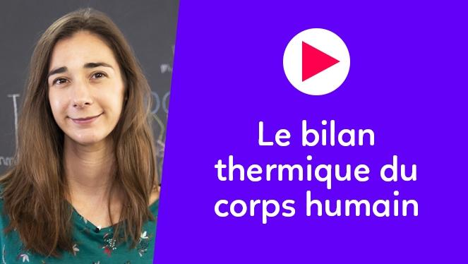 Le bilan thermique du corps humain
