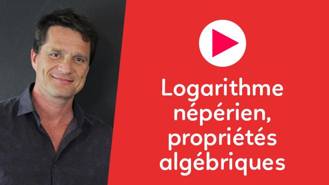 Logarithme népérien, propriétés algébriques