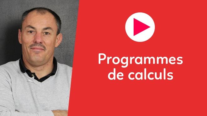 Programmes de calculs