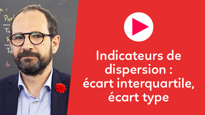 Indicateurs de dispersion : écart interquartile, écart type