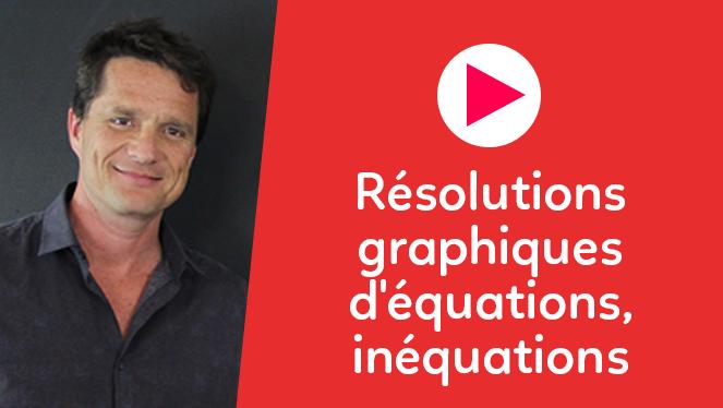 Résolutions graphiques d'équations, inéquations