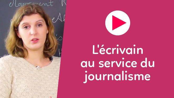 L'écrivain au service du journalisme