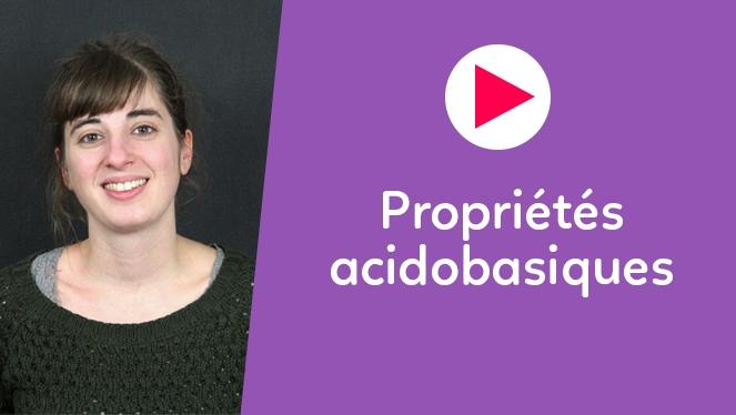 Propriétés acidobasiques
