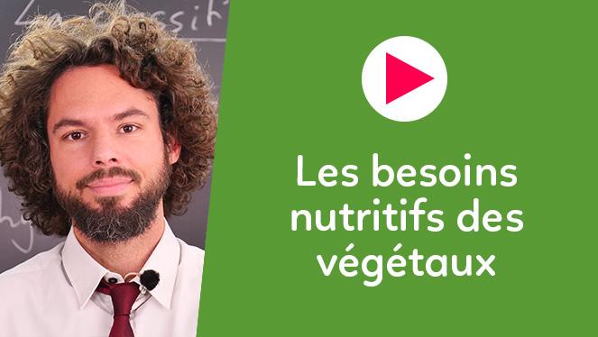 Les besoins nutritifs des végétaux