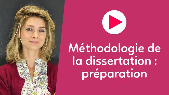 Méthodologie de la dissertation : préparation