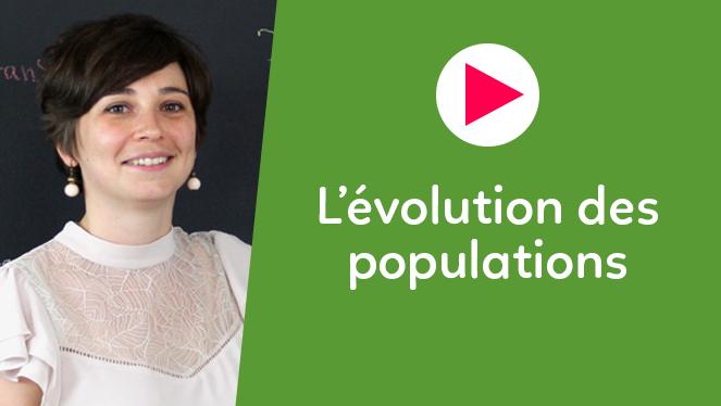 L'évolution des populations