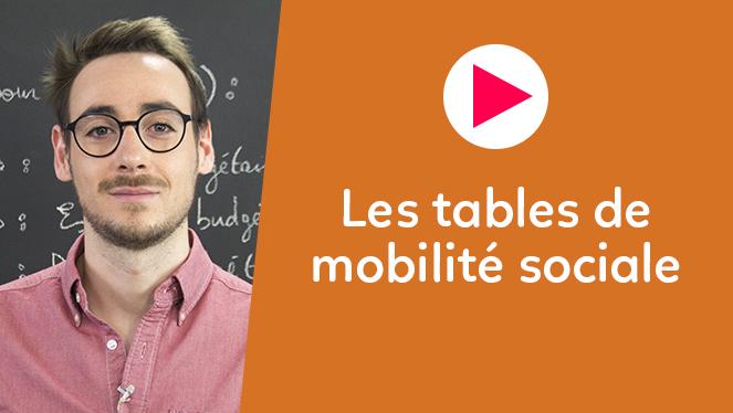 Les tables de mobilité sociale