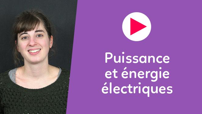 Puissance et énergie électriques