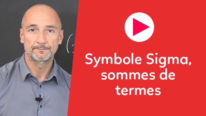 Symbole Sigma, sommes de termes