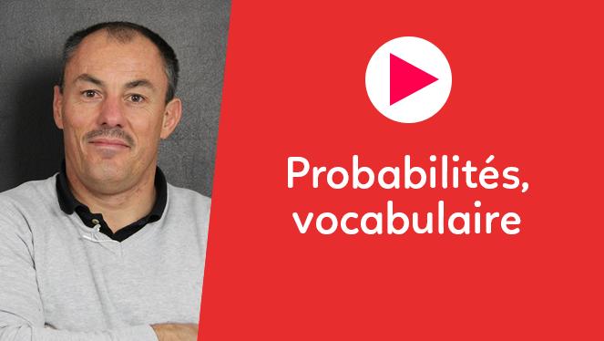 Probabilités, vocabulaire