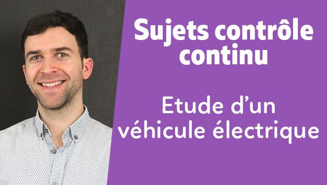 Etude d'un véhicule électrique