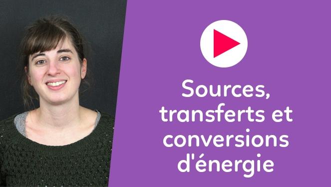 Sources, transferts et conversions d'énergie