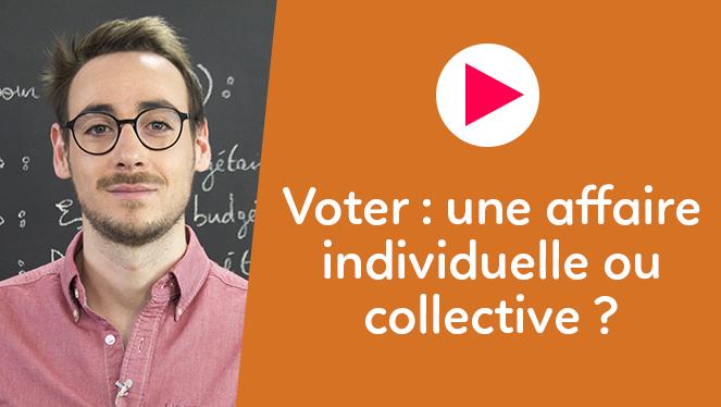 Voter : une affaire individuelle ou collective ?