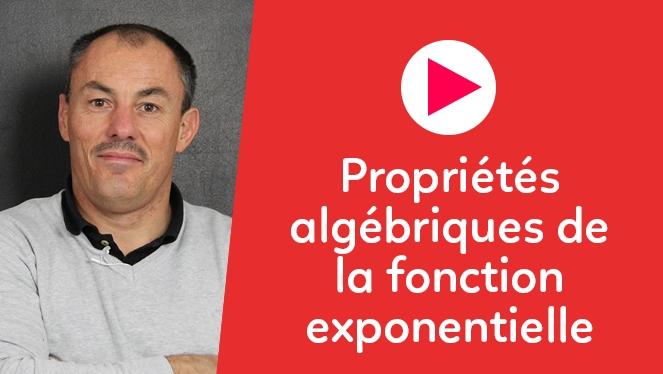 Propriétés algébriques de la fonction exponentielle
