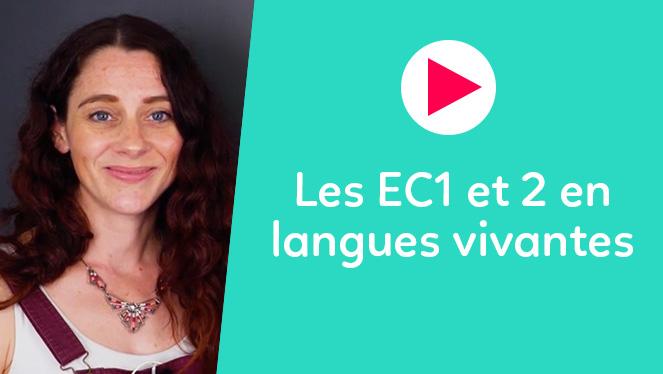 Les EC1 et 2 en langues vivantes