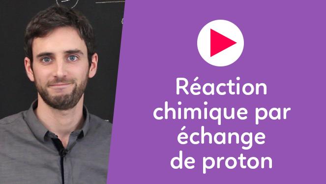 Réaction chimique par échange de proton