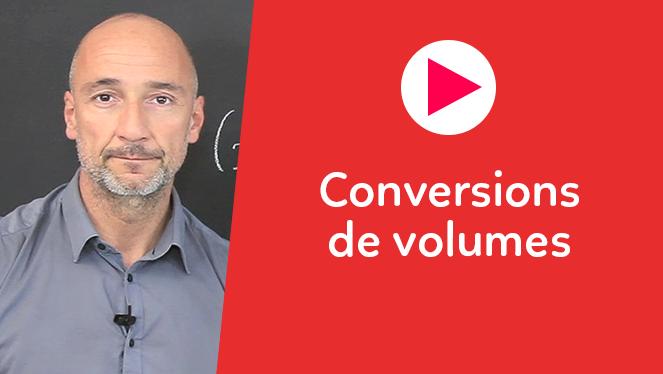Conversions de volumes