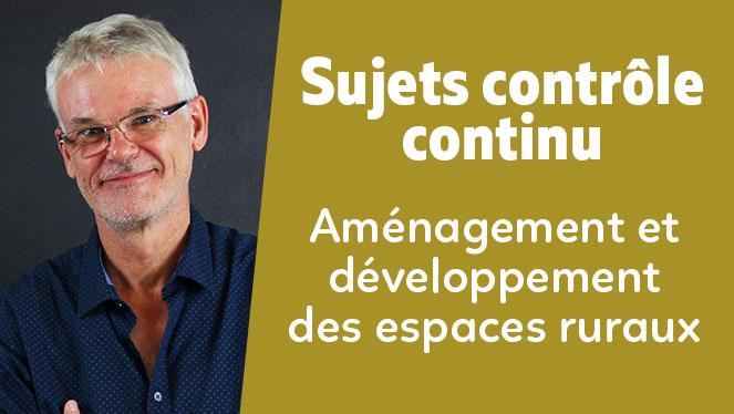 Aménagement et de développement des espaces ruraux français