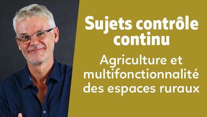 Agriculture et multifonctionnalité des espaces ruraux