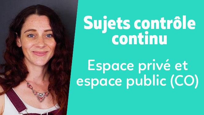 Espace privé et espace public (CO)