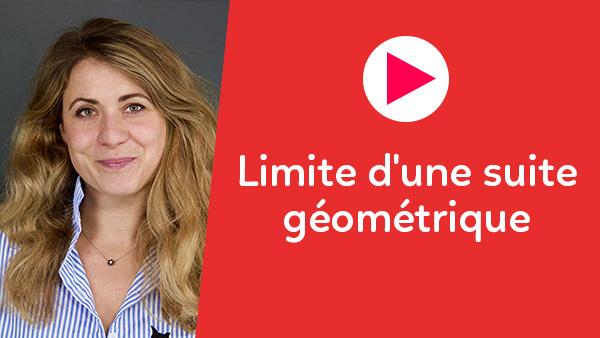 Limite d'une suite géométrique