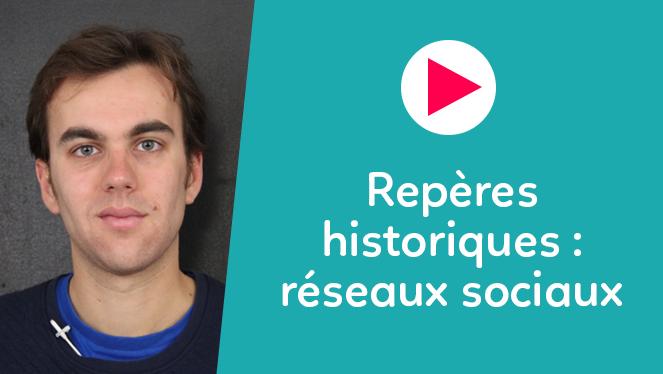 Repères historiques : réseaux sociaux
